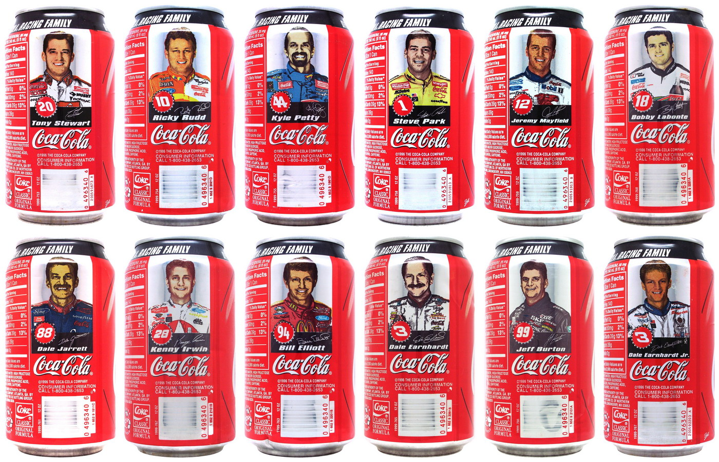 Coca Cola Racing Family Year To Year Nascar