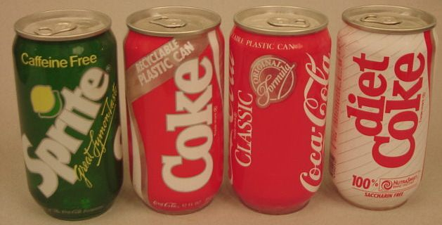 Clear Soda Can Drink