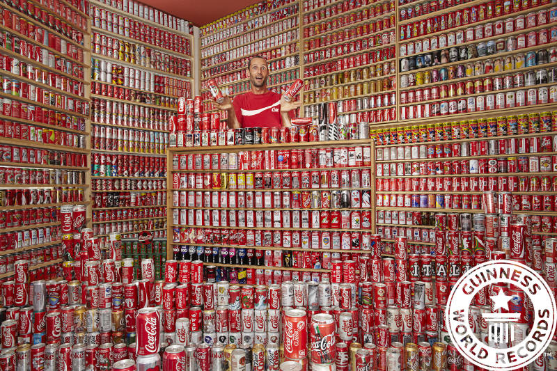 Guinness World Record - largest collection of coca cola cans